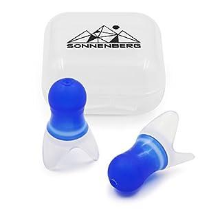 Sonnenberg Ohrstöpsel (1 Paar) aus weichem Silikon - Gehörschutz ideal für die Reise - hilft beim Druckausgleich im Flugzeug ...