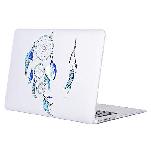 MOSISO Funda Dura Compatible MacBook Air 13 Pulgadas (A1369 / A1466, Versión 2010-2017), Ultra Delgado Carcasa Rígida Protector de Patrón de Plástico Cubierta, modelo de atrapasueños azul