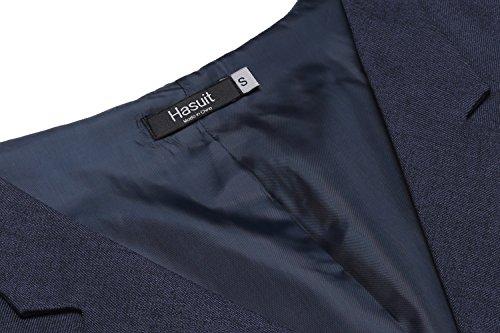 Hasuit Homme Gilet Costume Veste Slim Fit Sans Manches Business Mariage S-XXL Bleu Foncé