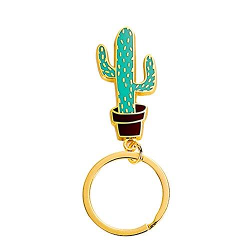 weimay Multifunktion Ring der Kette Dominante Kakteen-Creative Cute Auto Metall Schlüsselanhänger Keyfob Ring der Kette für Männer und Frauen Mädchen-6verschiedenen Stilen