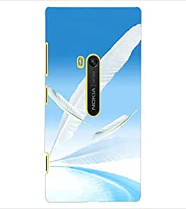 ColourCraft Lovely Feathers Design Back Case Cover for NOKIA LUMIA 920