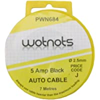 Pearl PWN684 5A 7m Single Wiring Cable - Black - ukpricecomparsion.eu