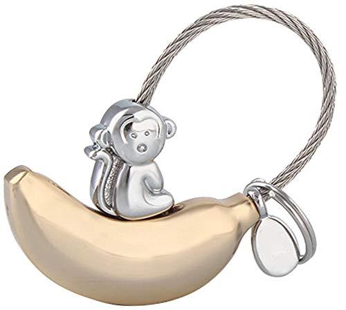 LUCKLYSTAR Schlüsselanhänger für Mädchen, Schlüsselanhänger für Damen,Mode Anhänger Schlüsselanhänger/Cute AFFE Shape Schlüsselanhänger Paar Geschenk Schlüsselanhänger