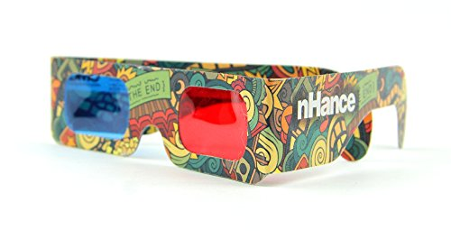 Domo 3D Glasses For Mobile Phone, Computer, Tv, Projector And Magazines Anaglyph Passive Cyan And Magenta Red And Blue Paper 3D Video Glasses (Pack Of 4 Pcs)  available at amazon for Rs.129