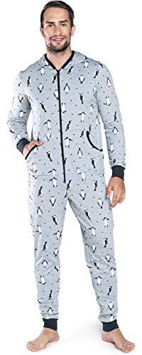 Italian fashion if pigiama intero uomo ifs18030 (melange, m)