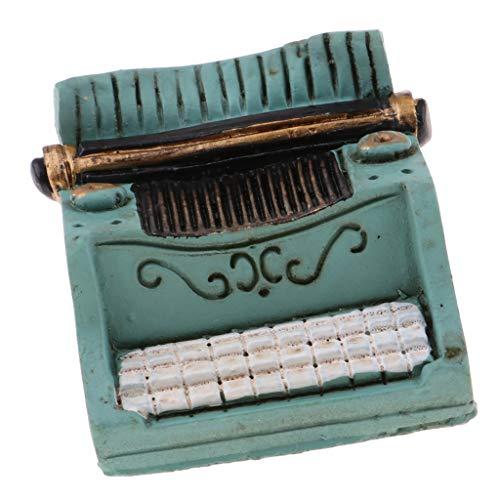 Fenteer 1/12 Miniature Machine à écrire Cadeau d'anniversaire pour Fille Garçon Vert