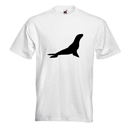 Kiwistar Robbe - Seehund - Antarktis T-Shirt in 15 Verschiedenen Farben - Herren  Funshirt