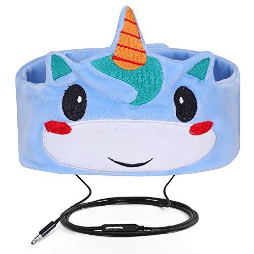 Verdrahtete Kinderkopfhörer Ultra dünne Lautsprecher-einfache justierbare weiche Vlies-Stirnband-Kopfhörer für Kinder Blau