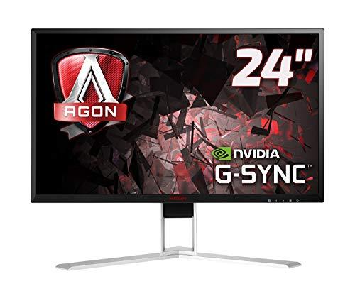 "Foto AOC AGON AG241QG Monitor Gaming da 23,8"", QHD, 2560 x 1440, 165 Hz, 1 msec, Speaker, DP, HDMI, 4 Porte USB, G-Sync, Nero"