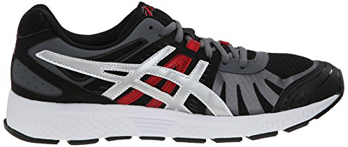 Asics Gel-Defiant 2 Synthétique Chaussure de Course Onyx-silver-red