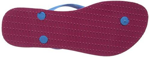 Havaianas Flip Flops Slim Logo Zehentrener für Frauen Rosa  (SHOCKING PINK 0703)