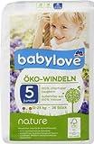 babylove Öko-Windeln nature Größe 5, junior 12-25kg, 36 St