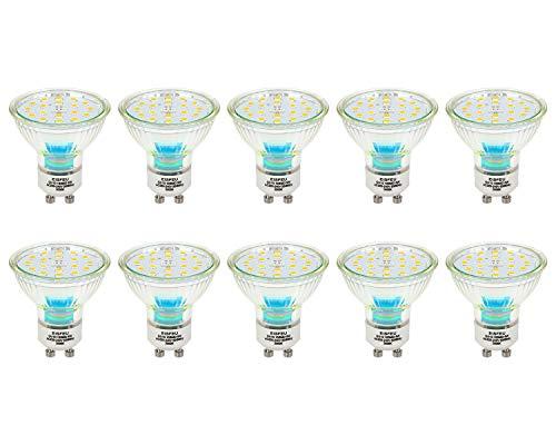 LED Leuchtmittel, EISFEU GU10 LED Lampe, 5W Entspricht 60W Halogenlampen, 3000K, 600Lumen, Warmweißes Tageslicht, Flimmerfreies Licht, 10 Stück