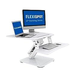 FLEXISPOT F3W Höhenverstellbarer Schreibtisch Sitz-Steh-Schreibtisch Steharbeitsplatz Computertisch Weiß