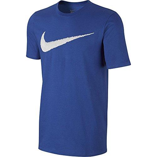 Nike Herren Hangtag Swoosh T-Shirt, Game Royal/White, L (Athletic-t-shirt)