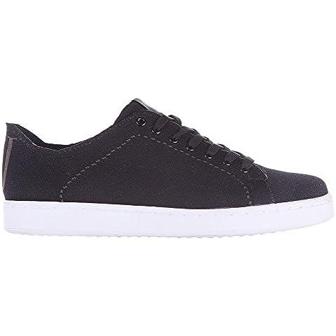 Armani Jeans zapatos zapatillas de deporte hombres en Nylon nuevo negro