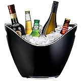 Yobansa 8L Portaghiaccio,Secchiello per Il Ghiaccio,Secchio di Ghiaccio,Secchiello ghiacci, Secchiello per Champagne,Contenitore di Frutta e Verdura (Black)