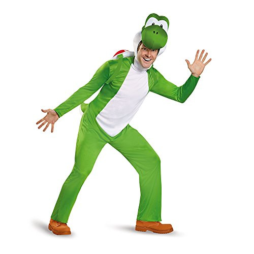 Super Mario Bros Yoshi Deluxe Adult Costume X-Large 42-46