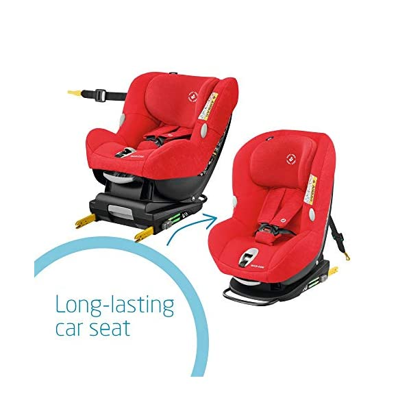 Maxi-Cosi MiloFix ISOFIX Combination Car Seat, Group 0+/1 car seat, Rear and Forward-facing, 0-4 years, 0-18 kg, Nomad Red Maxi-Cosi Extended rearward-facing travel up until 18 months for improved head and neck protection Install using isofix with top tether anchorage strap with colour indicators Long-lasting car seat, growing with baby from birth to approx. 4 years old 4