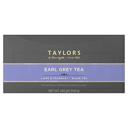 Taylors of Harrogate Earl Grey Tea, 100 Tea Bags (Pack of 1, Total 100 Teabags)