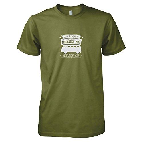 TEXLAB - Ich bin ein Bulli fahrender Papa - Herren T-Shirt, Größe L, oliv (Salzstreuer Kostüm)