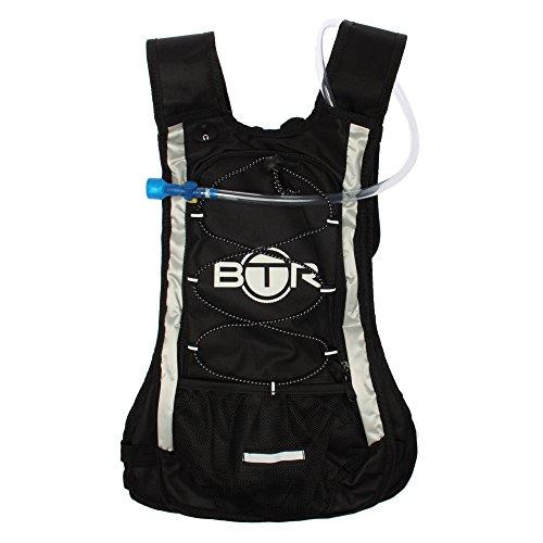 Zaino BTR (capacità 8 litri) con Vano e Ganci per trattenere una sacca d'idratazione di 2 litri, ideale per ciclismo, escursionismo, corsa, campeggio, camminata