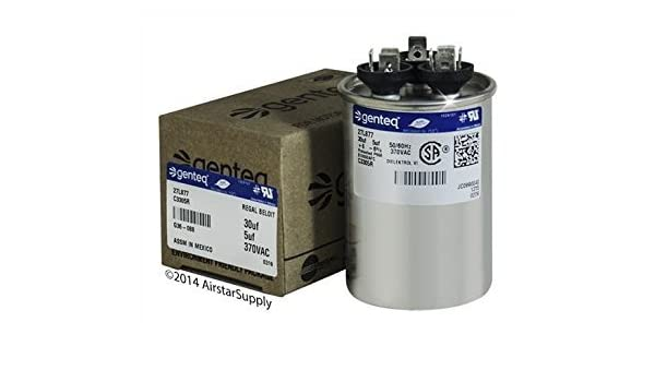 Replacement for Genteq New GE Capacitor 97F9833, 30/5 uf 370