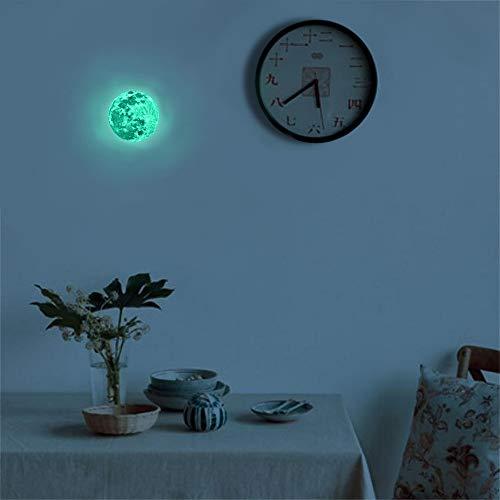 Malerei Kit Adler,2 STÜCKE 3D Mond Fluoreszierende Wandaufkleber Removable Glow In The Dark Aufkleber,A,5cm 2pcs ()