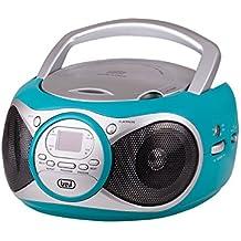 Trevi CD 512 Azul - Microcadena (Azul, AM,FM, Rojo, LED, CD,CD-R,CD-RW, CD audio)