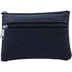 Mini Billetera,Toamen Cierre De Cremallera De Moda De Mujer Corta Portatarjetas Monedero Billetera (A)