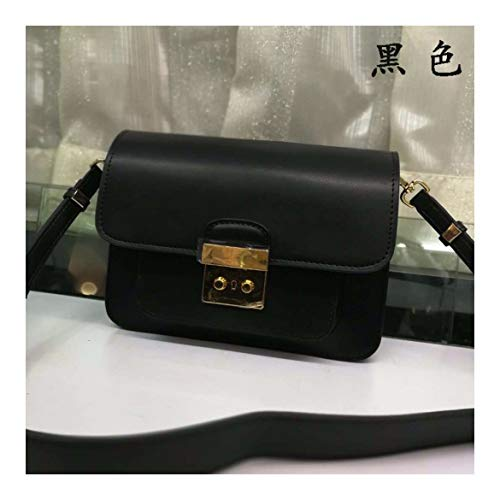 XUZISHAN Lady Leder Bag Single Schulter- Messenger Crossbody Fashion Handtasche Kreuz Square, Midnight Black - Black Zebra Kreuz