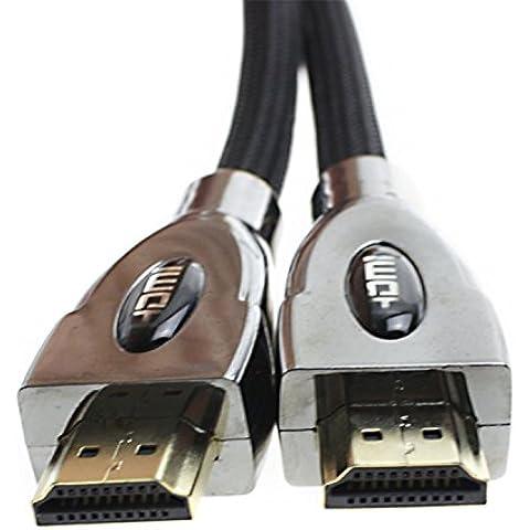 apfamli Super alta definición 4K x 2K 2.0V cable HDMI Ethernet 6,5pies–Negro
