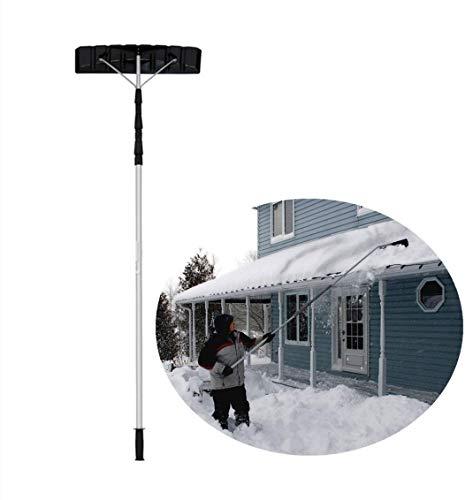 SanQing Dach Schnee Removal Tool 21 Ft mit verstellbarem Teleskopstiel Dach Schnee Removal Tool Lightweight Leicht Schnee vom Dach entfernen |