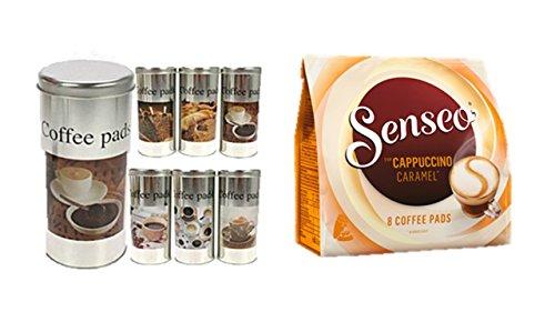 James Premium Senseo Kaffeepads Cappucino Caramel + 4 Paddosen