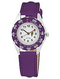 Cactus CAC-57-M09 - Reloj analógico para niño, correa de plástico color morado