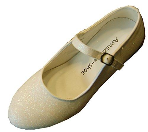 Helgas Modewelt, Scarpe col tacco bambine Avorio (ivory-glitzer)
