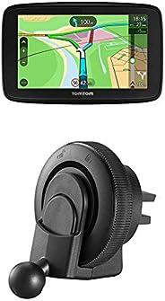 TomTom Via 53 EU-Traffic Navigationsgerät (13cm (5 Zoll), Updates über Wi-Fi, Smartphone-Benachrichtigungen) + Lüftungsschli