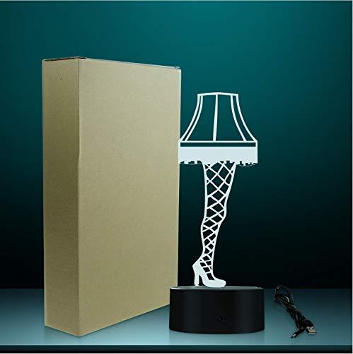 Optische Täuschung Bein Lampe Aus Einer Weihnachtsgeschichte Sexy Seidenstrümpfe Bein Nachtlicht Tischlampe Leuchtende Led Visuelle Lampe Licht 3D -