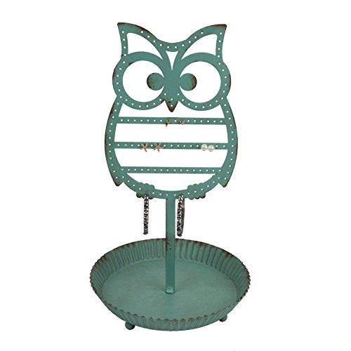 NIKKY HOME Vintage Metal Owl Shape Jewelry Holder