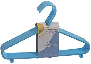 Bieco 90032151 - Kinder Kleiderbügel Kunststoff 32 Stück hellblau