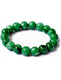 Mes Bijoux Bracelets Pulsera Charms Serpiente Joya Piedra Natural Jade 10mm Mujer Verde Meso