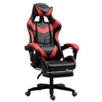 Ergonomic Gaming Chair Racing Style Adjustable Height High-Back PC Computer Chair with Headrest and Lumbar Support Executive Office Chair