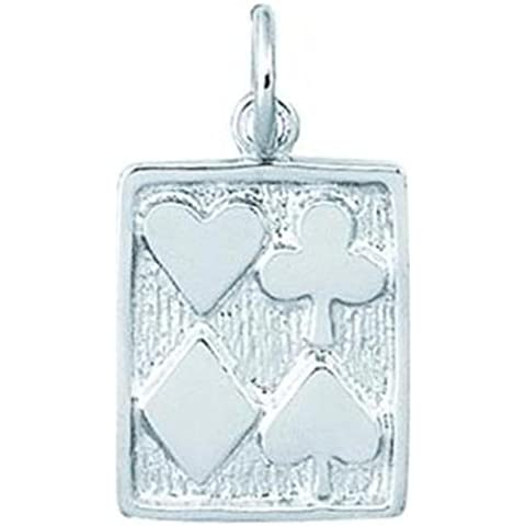 Findingking Argento Sterling Carte da gioco Charm