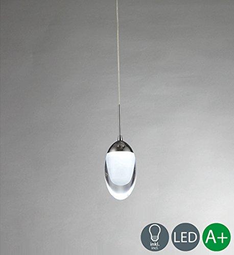 12W Kreative Pendelampe Modern LED Pendelleuchte Acryl Design Decken Hängelampe Schön Dekoration Hängeleuchte Wohnzimmer Lampe Schlafzimmer Leuchte Einzigartige Innenbeleuchtung 840 LM Kaltweiss (Acryl-pendelleuchte)