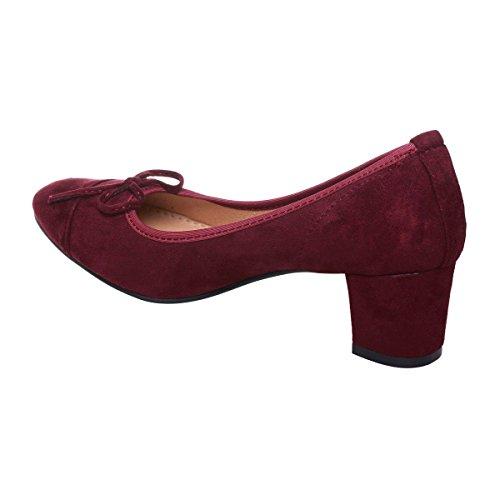 La Modeuse - Escarpins aspect cuir à talon épais Rouge