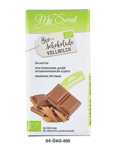 Preisvergleich Produktbild My Sweet Bio-Schokolade Vollmilch,  40g