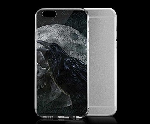 Light weight with strong PC plastic case for Iphone 6 Art Skull & Bones Crow Fading Skull