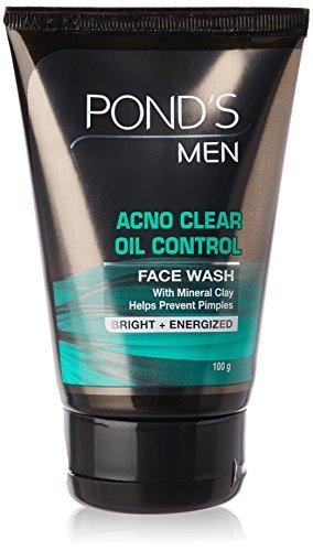 Étangs hommes huile Face Control Laver 100% Minéraux & Hazel Extract for Freshnes 100g
