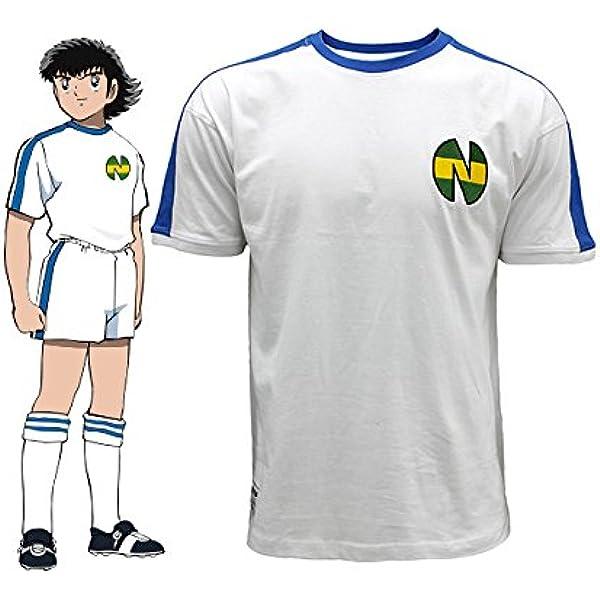 Camiseta Newteam Blanco/Azul -Oliver Atom- XL : Amazon.es: Ropa