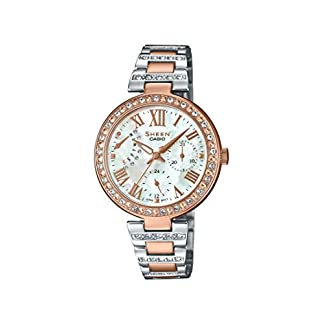 Casio Sheen Analog Mother of Pearl Dial Women's Watch – SHE-3043SPG-7BUDR (SH197)